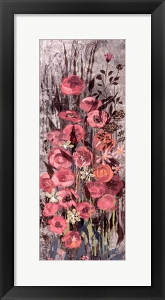 Framed Pink Floral Frenzy III Print
