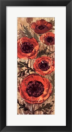 Framed Floral Frenzy Red I Print