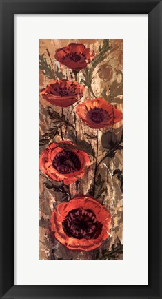 Framed Floral Frenzy Red II Print