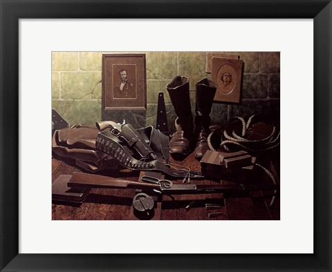 Framed Old Boots Print