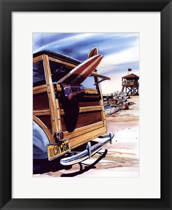 Framed Beach Wagon Print