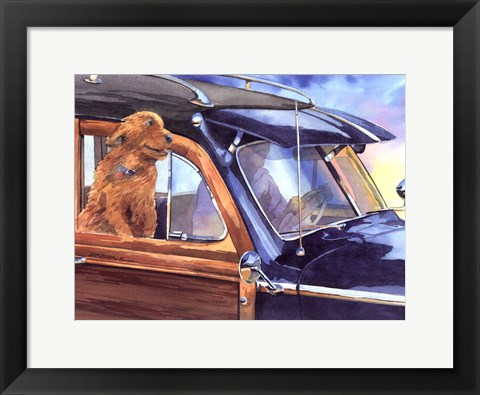 Framed California Cruisin Print