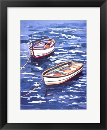 Framed Vernazza Boats Print