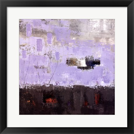 Framed Purple Fusion III Print