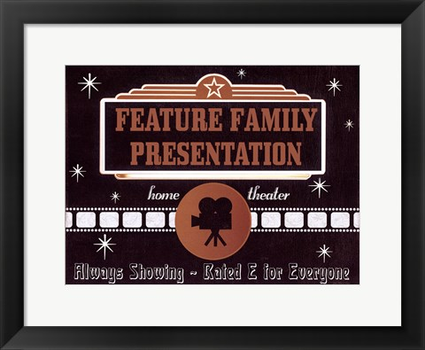 Framed Feature Presentation Print