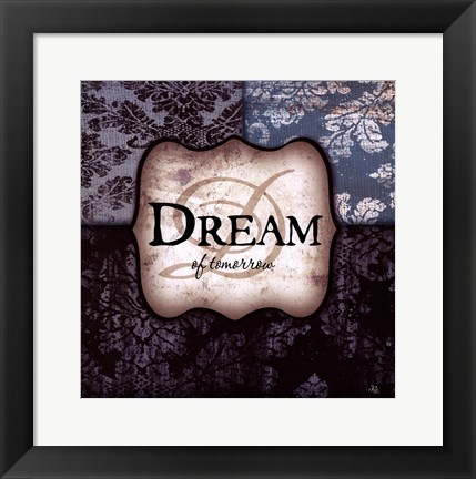Framed Dream - brown and blue Print