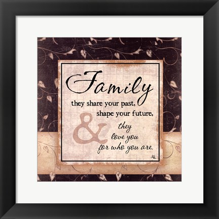 Framed Family Print