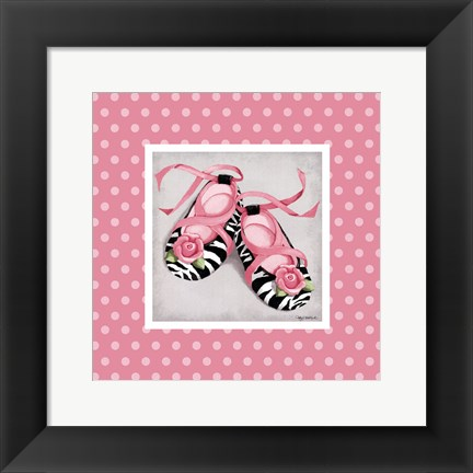 Framed Wild Child Ballet Slippers Print