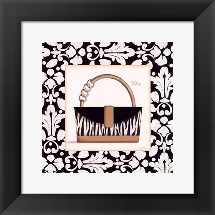 Framed Chic Purse Print