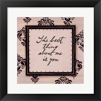 Framed Best Things in Life Print