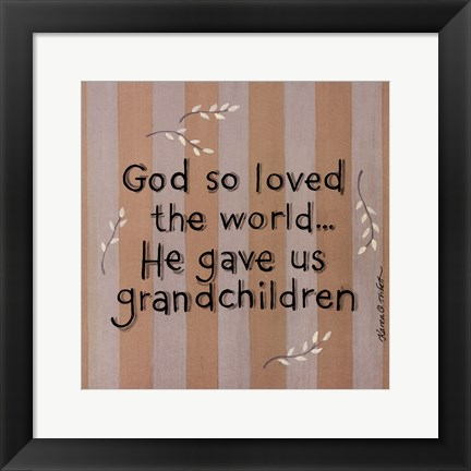 Framed God So Loved Print