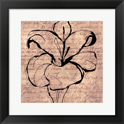 Framed Tulip Thoughts Print