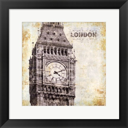 Framed London - square Print