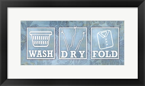 Framed Wash Dry Fold Print