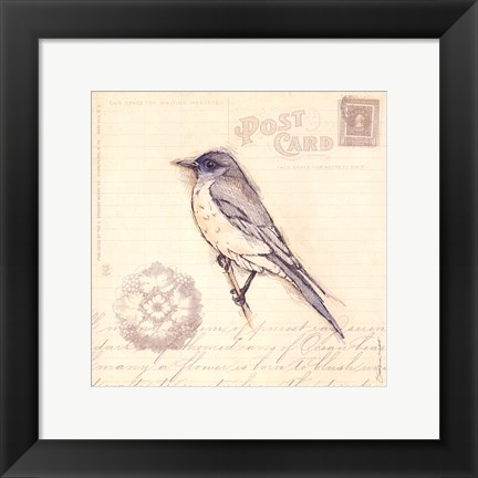 Framed Bird I Print