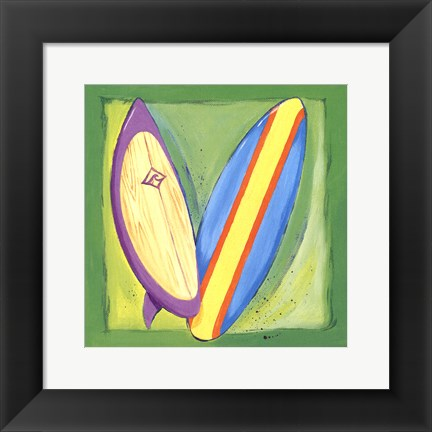 Framed Surf Boards Print