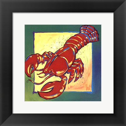 Framed Lobster Print