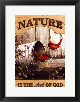 Framed Art of God Print