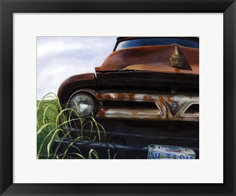 Framed Out to Pasture Print