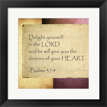 Framed Delight Yourself in the Lord Print