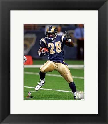Framed Marshall Faulk 2005 Action Print