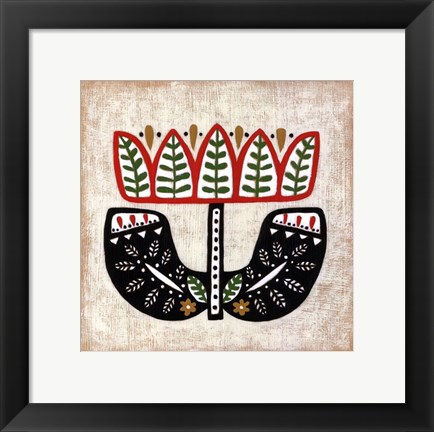 Framed Folk Song IV Print