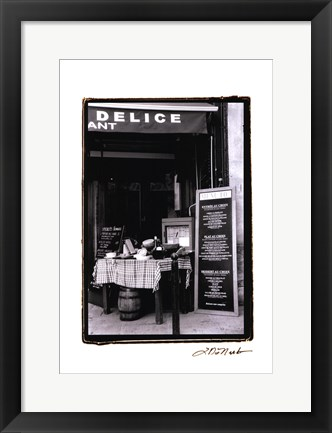 Framed Cafe Charm, Paris IV Print