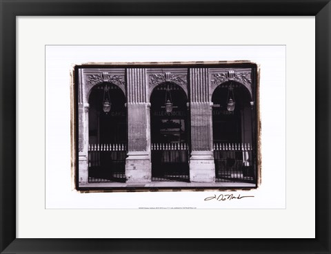 Framed Parisian Archways III Print