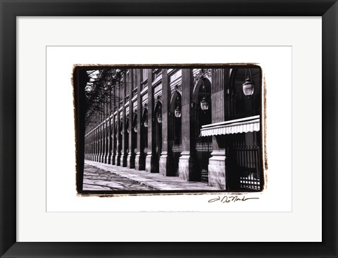Framed Parisian Archways IV Print