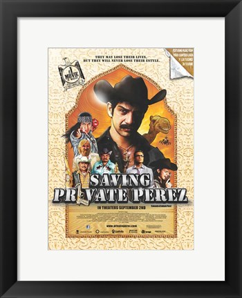 Framed Saving Private Perez Print