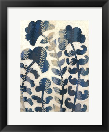 Framed Blueberry Blossoms I Print