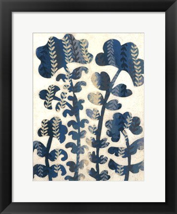 Framed Blueberry Blossoms II Print