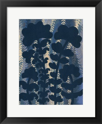 Framed Blueberry Blossoms IV Print