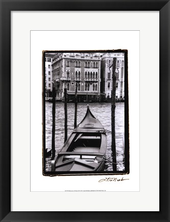 Framed Waterways of Venice III Print