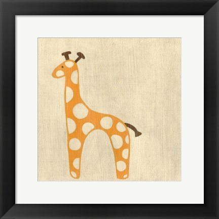 Framed Best Friends- Giraffe Print