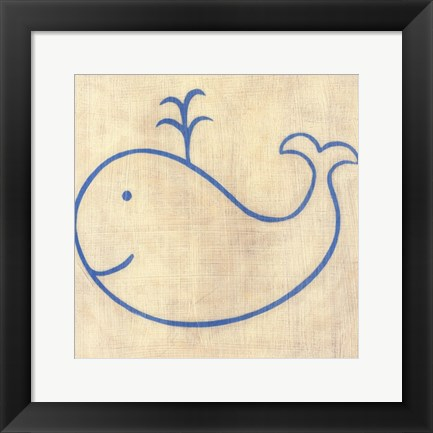 Framed Best Friends- Whale Print