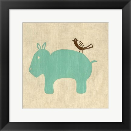 Framed Best Friends- Hippo Print