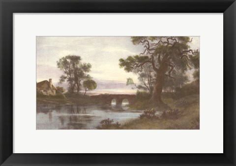 Framed Towards the Golden West Print