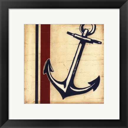 Framed Americana Captain's Anchor Print