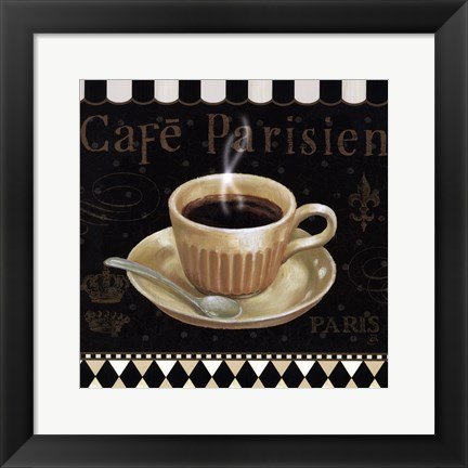 Framed Cafe Parisien I Print