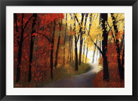 Framed Autumn Road Print