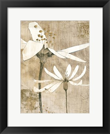 Framed Pencil Floral II Print