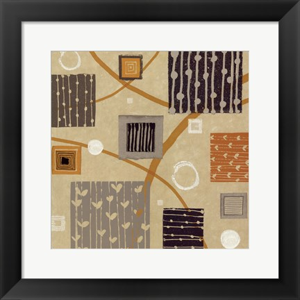 Framed Graphic Tiles II Print