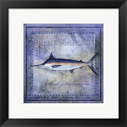 Framed Ocean Fish V Print