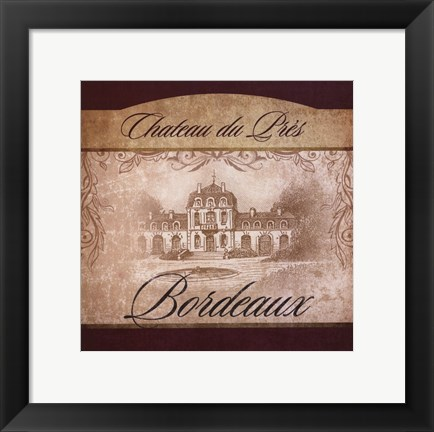 Framed Wine Label II Print