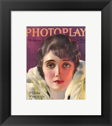 Framed Alice Joyce Photoplay March, 1920 Print
