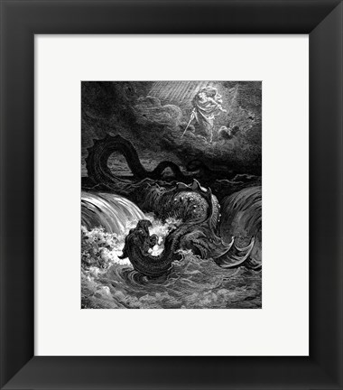 Framed Destruction of Leviathan Print