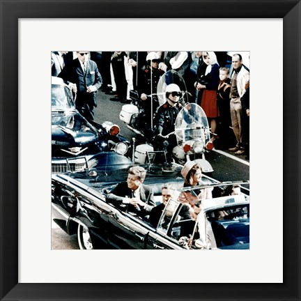 Framed JFK Motorcade Dallas, TX Print