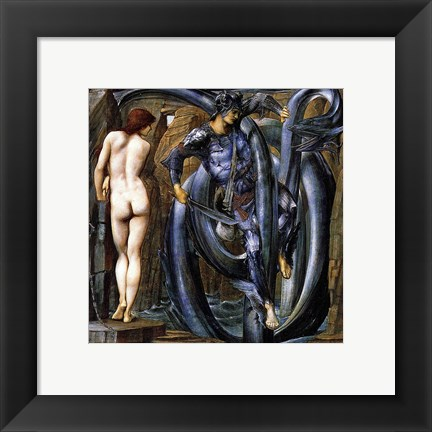 Framed Perseus Slays the Serpent Print