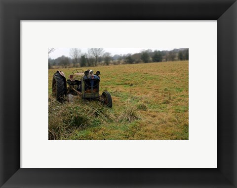 Framed Tractor photograph Print